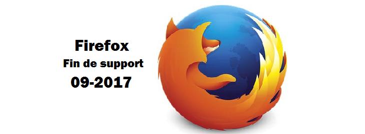 Fin de support pour Firefox sur XP et VISTA